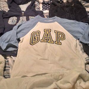 Gap long slv t shirt, thick hoodie, Old Navy Cords
